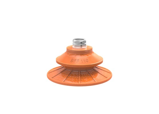 "Suction cup BFF110P Polyurethane 55/60. 3/8"" NPT female with mesh filter"