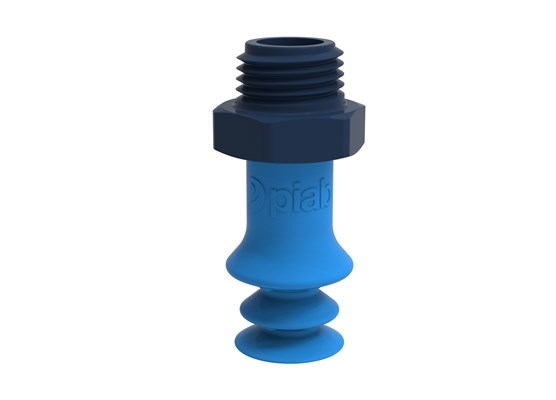 "Suction cup F-BX10 Silicone 1/8"" NPT male composite, detectable, FCM"