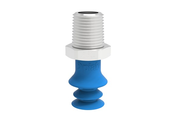 "Suction cup F-BX15 Silicone 1/4"" NPT male SS, detectable, FCM"
