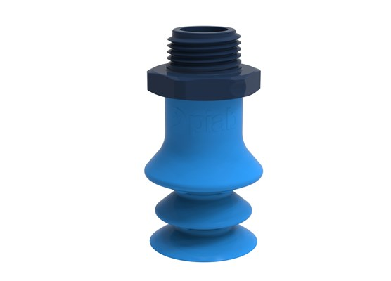 "Suction cup F-BX25 Silicone 3/8"" NPT male composite, detectable, FCM"