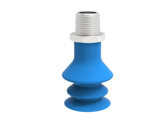 "Suction cup F-BX35 Silicone 3/8"" NPT male SS, detectable, FCM"