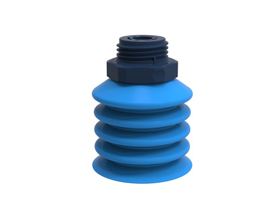 "Suction cup B-BL40-2 Silicone, G1/2"" male composite detectable, FCM"