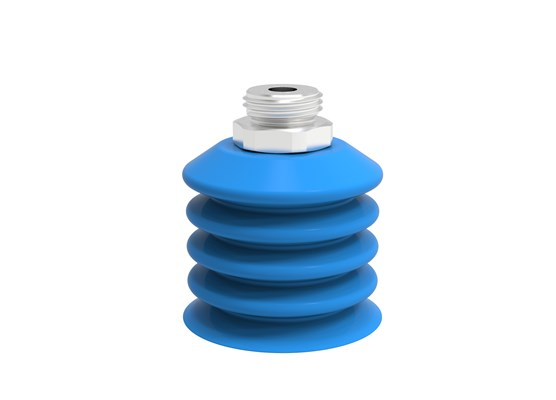 "Suction cup B-BL60-2 Silicone, G1/2"" male SS detectable, FCM"