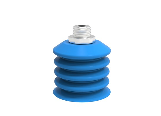"Suction cup B-BL60-2 Silicone, 3/8"" NPT male SS detectable, FCM"