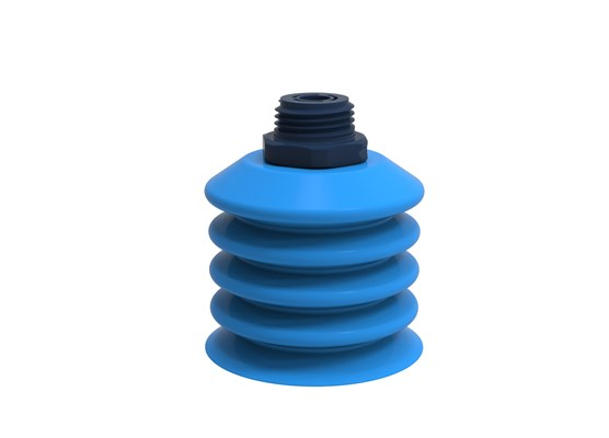 "Suction cup B-BL60-2 Silicone, 1/2"" NPT male composite detectable, FCM"