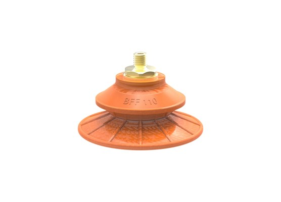 Suction cup BFF110TP Polyurethane 55/60/30 M10x1,5 male with mesh filter