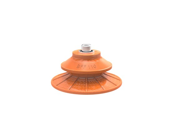 "Suction cup BFF110P Polyurethane 55/60 G3/8"" male, 1/8"" NPSF female, with mesh filter"