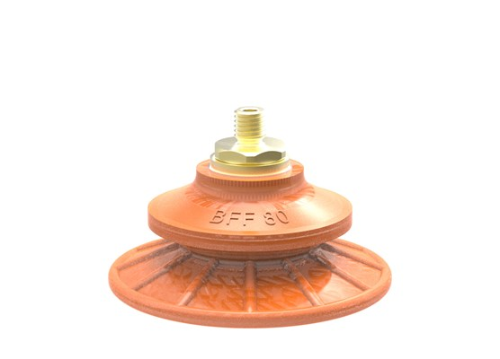 Suction cup BFF80P Polyurethane 55/60 M10x1,5 male with mesh filter