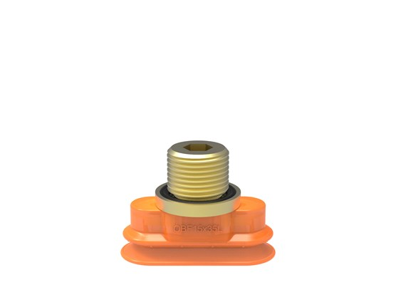 "Suction cup OBF15x35P L Polyurethane 60, G1/4"" male"