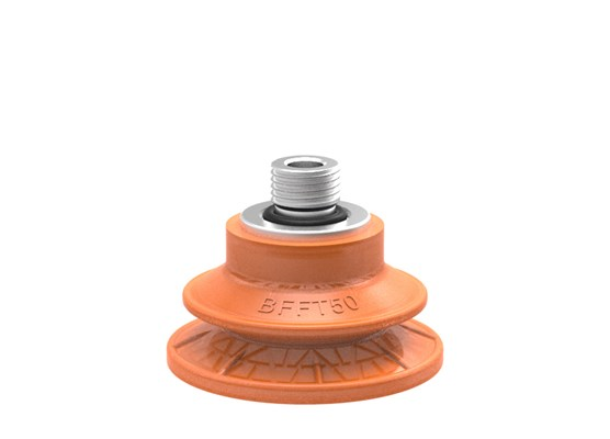 "Suction cup BFFT50P Polyurethane 60/60/30 G1/4"" male with mesh filter"