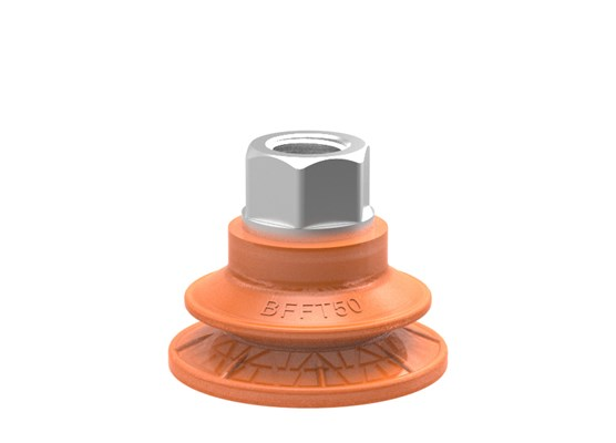 "Suction cup BFFT50P Polyurethane 60/60/30 G3/8"" female with mesh filter, 17 mm thread"