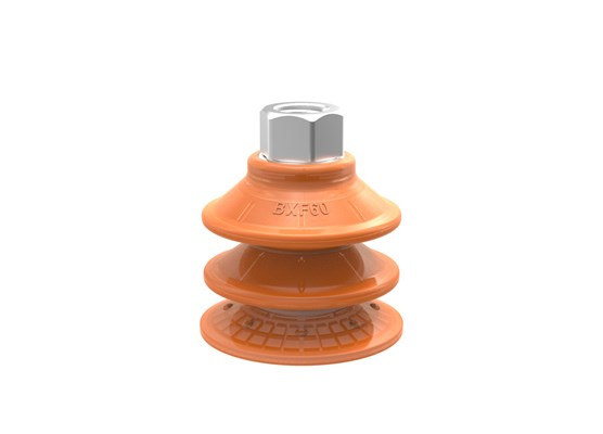 "Suction cup BXF60P Polyurethane 60, G3/8"" female with mesh filter, 17 mm thread"