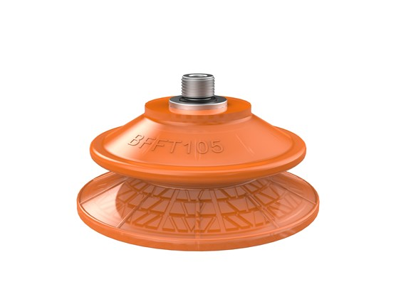 "Suction cup BFFT105P Polyurethane 60/60/30, G1/4"" male with mesh filter"