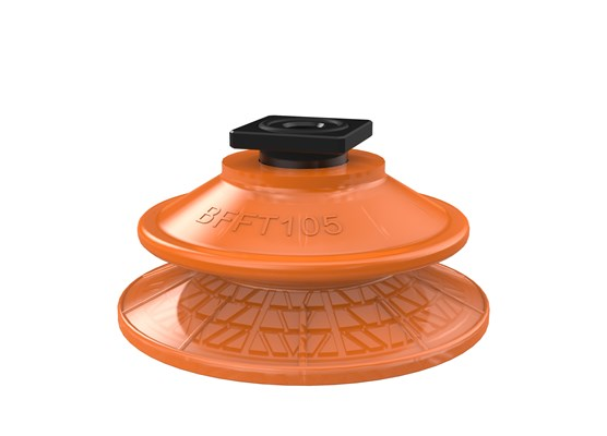 Suction cup BFFT105P Polyurethane 60/60/30, T-slot with mesh filter