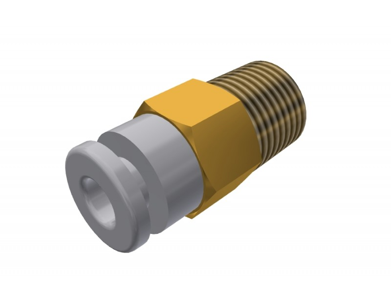 H male straight fittings