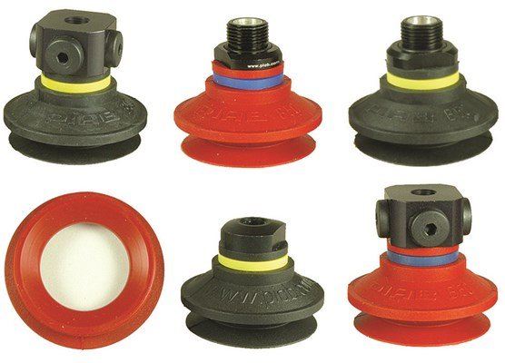 Configure your bellows suction cups for mark free