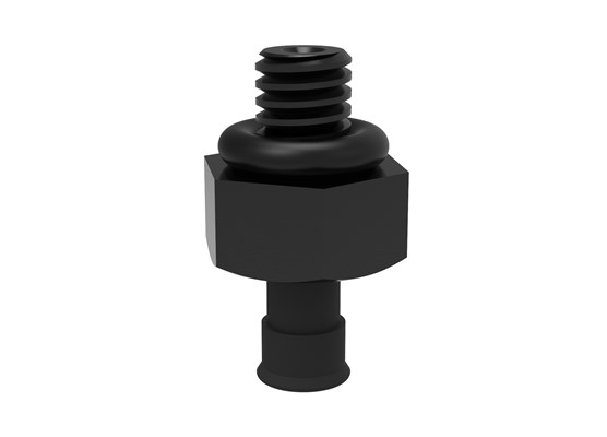 Suction cup U2 Conductive silicone, M2.5 male