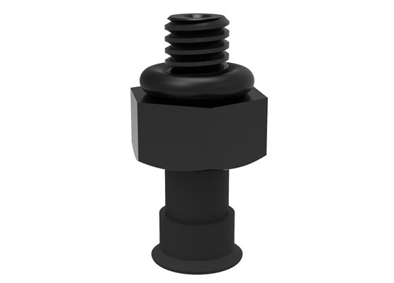 Suction cup U3 Conductive silicone, M2.5 male