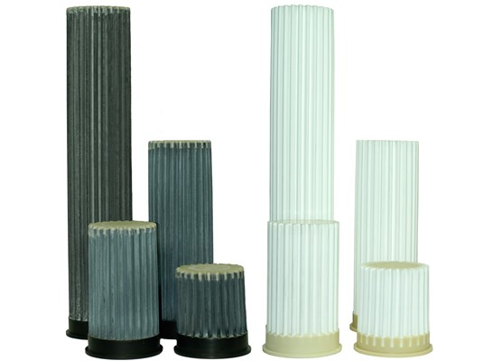 Pleated rod filter Ø125 L=145 cpl
