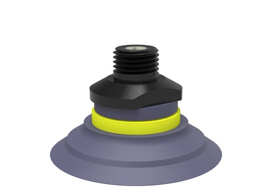"Suction cup F50-2 HNBR, 1/4"" NPT male, with mesh filter"