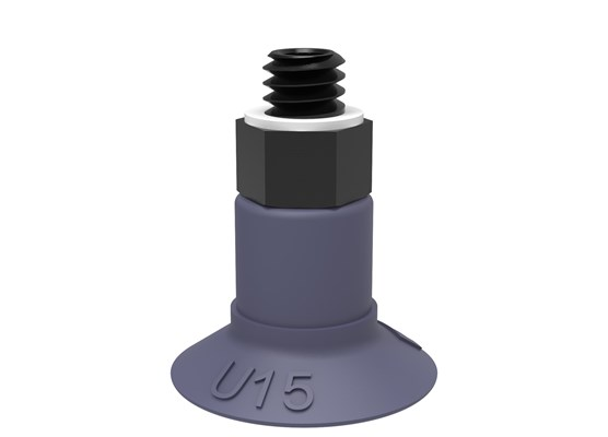 Suction cup U15 HNBR, M5 male