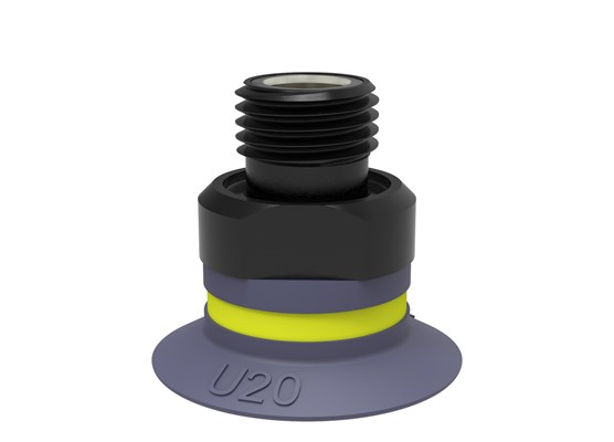 "Suction cup U20 HNBR, G1/8"" male, with mesh filter"