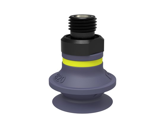 "Suction cup B20 HNBR, G1/8"" male, with mesh filter"