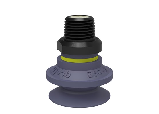 "Suction cup B30-2 HNBR, NPT3/8"" male, with mesh filter"