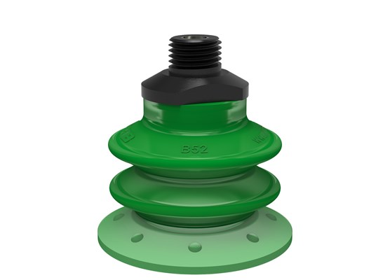 "Suction cup BX52P Polyurethane 60 with filter, 1/4"" NPT male, with dual flow control valve"