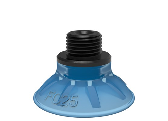 "Suction cup FC25P Polyurethane 50, G1/8"" male / M5 female, with dual flow control valve"