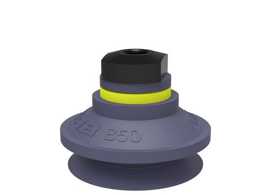 "Suction cup B50 HNBR, 1/8"" NPSF female"