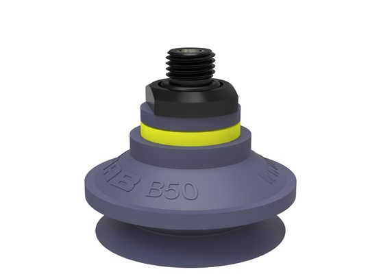 "Suction cup B50 HNBR, G1/4"" male, with dual flow control valve"