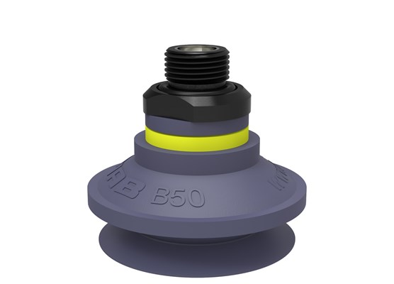 "Suction cup B50 HNBR, G3/8"" male, with dual flow control valve"