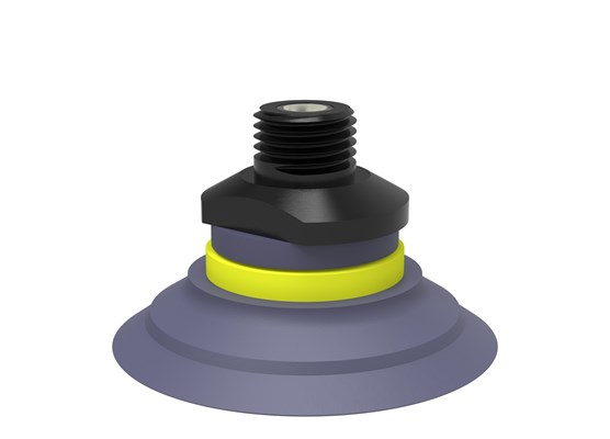 "Suction cup F50-2 HNBR, 1/4"" NPT male, with dual flow control valve"