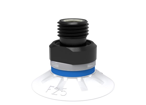 "Suction cup F25 Silicone FCM, G1/8"" male, with mesh filter"