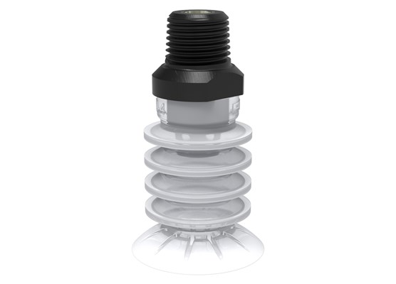 "Suction cup BL30-4 Silicone FCM, 1/4"" NPT male"
