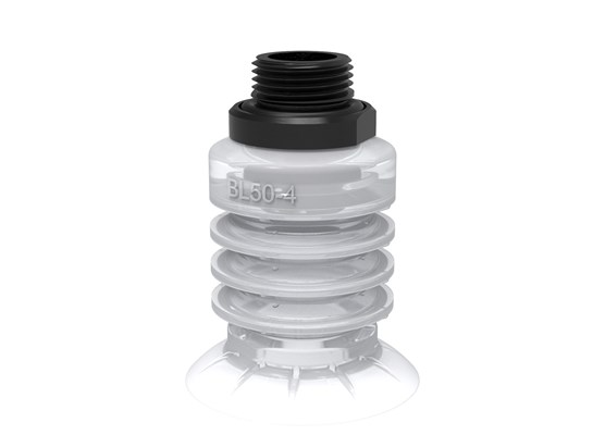 "Suction cup BL50-4 Silicone FCM, G1/2"" male"