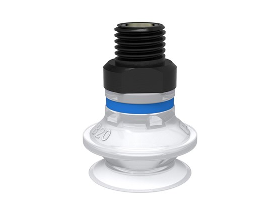 "Suction cup B20 Silicone FCM, 1/8"" NPT male, with mesh filter"