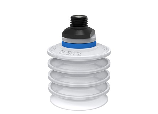 "Suction cup BL50-2 Silicone FCM, 1/4"" NPT male, with mesh filter"