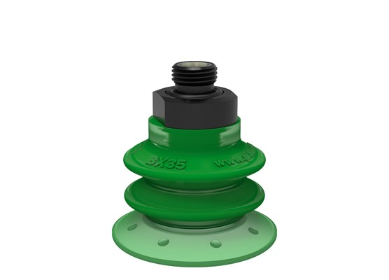 "Suction cup BX35P Polyurethane 60 with filter, G1/8"" male, with mesh filter"