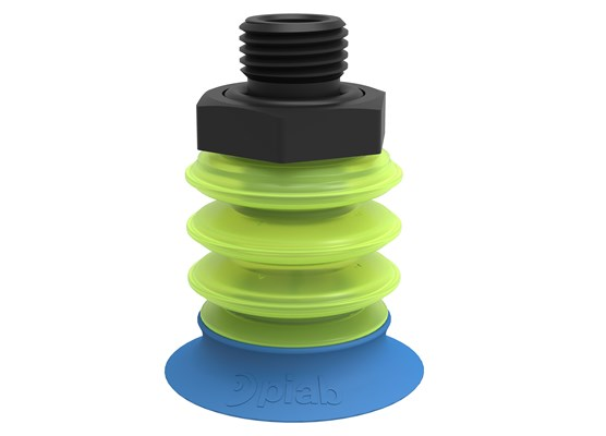 "Suction cup piGRIP® with Bag lip Silicone, G1/4"" male, with mesh filter, x2"