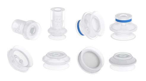 Configure your bellows suction cups for food contact materials (FDA & EU), non-detectable