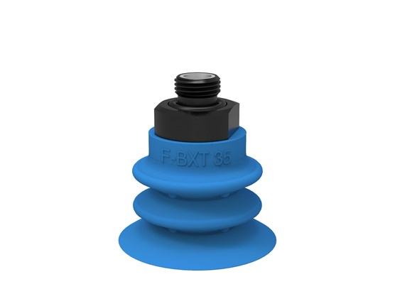 "Suction cup F-BXT35 Silicone G3/8"" male, with mesh and dual flow control valve"