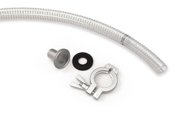 Hose connector for feed nozzle (piFLOW®p)