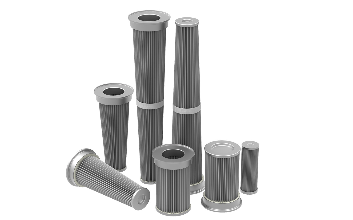 Pleated filters stainless steel